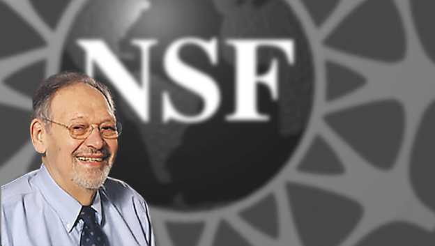 Image of Stanley Reiter superimposed over the NSF logo and accompanied by the NBER logo.